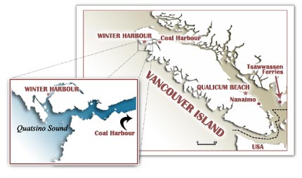 Winter Harbour Map